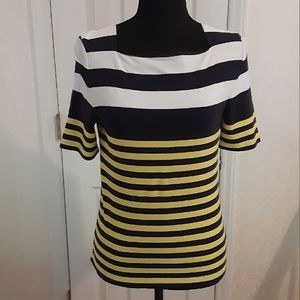 Chaps Striped Square Necked Top